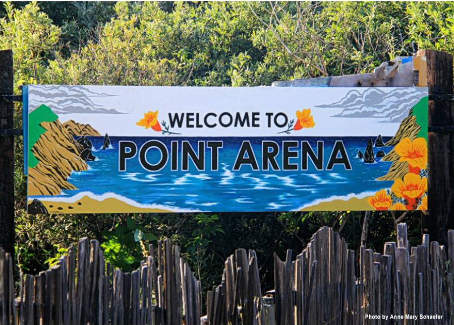 Point Arena South Sign - 2018